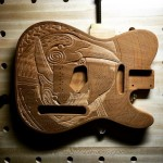 Triple Raven Telecaster guitar body WIP i have 25 hourshellip