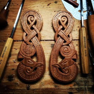 Viking Dragon Door Guardians