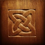 A pinwheel shaped Celtic knot I carved over the weekendhellip