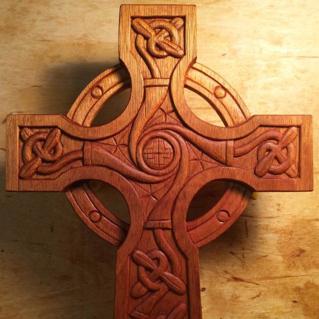 The TreeofLife Celtic Cross with a coating of linseed oilhellip