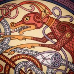 A detail section of my Dragon Shield artwork that Ihellip