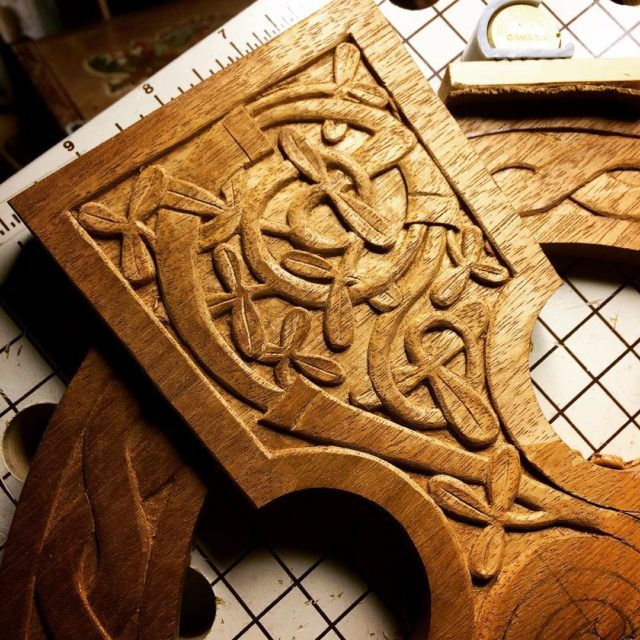 Adding this carved greenery to the Celtic cross has madehellip