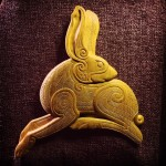 The completed Irish Hare carving in butternut I have justhellip