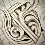 A quick study to help visualize this complex carving patternhellip