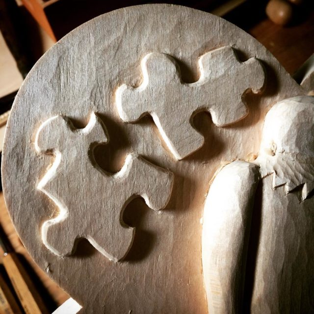 Puzzling through this basswood carving  it is still lookinghellip