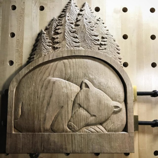 The center panel of the sleeping bear triptych has mosthellip